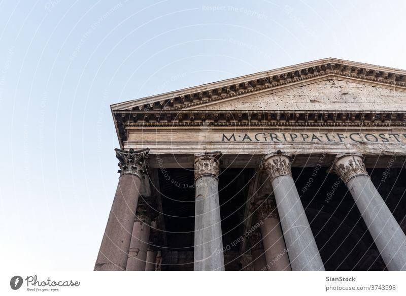 Alter römischer Pantheon-Tempel. Rom, Italien antik Dom Architektur reisen Europa Italienisch Kirche alt Römer Gebäude Denkmal Wahrzeichen Großstadt Kapital