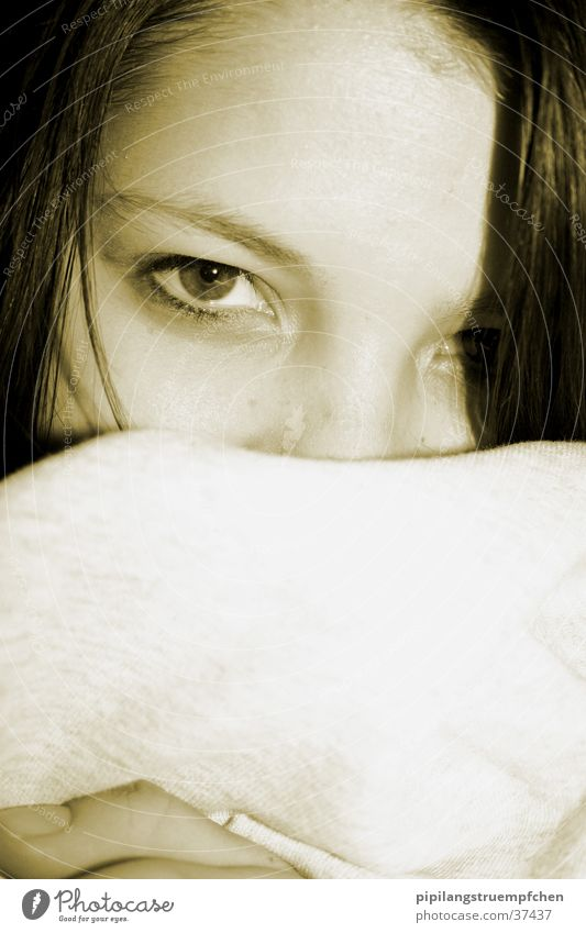 intensiv Frau Mädchen Auge Kopf