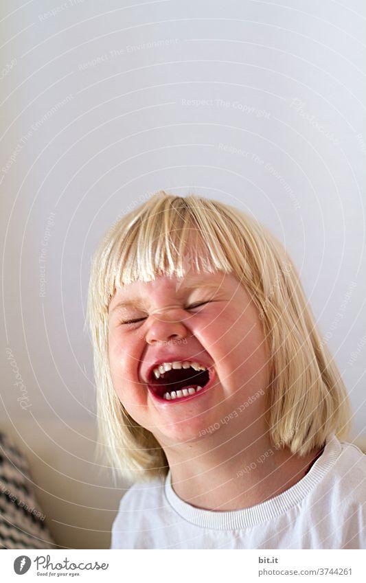 Dynamisch I Lachen bis in die Augen Kind Kindheit witzig Mädchen lachen Glück Freude Fröhlichkeit Mensch Lebensfreude Kleinkind Zufriedenheit Gefühle