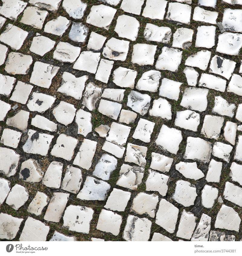 Handarbeiten (2) platz steine muster struktur handarbeit wege pflasterung einschwämmen sand fußweg Wege & Pfade Vogelperspektive gestaltung architektur spuren