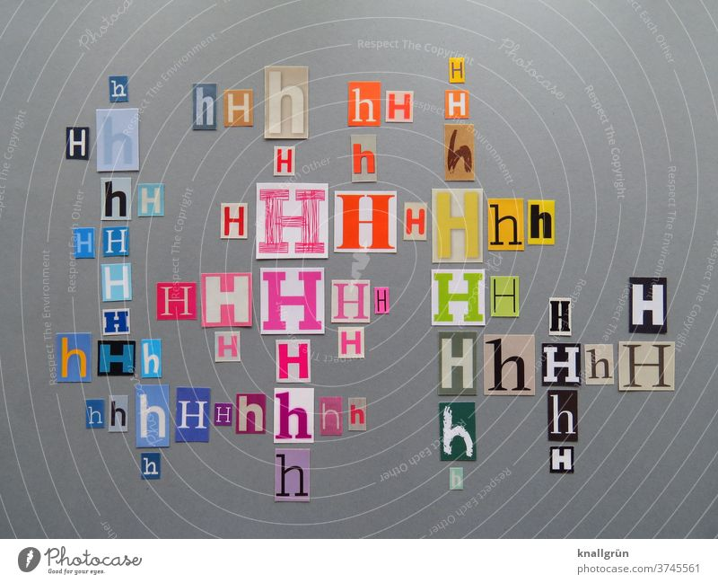 Hh Buchstaben Typographie Schriftzeichen Letter Wort Lateinisches Alphabet Sprache Text Großbuchstabe Kleinbuchstabe Druckschrift Druckbuchstaben Textfreiraum