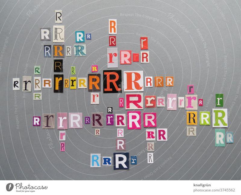 Rr Buchstaben Typographie Schriftzeichen Großbuchstabe Kleinbuchstabe Letter Lateinisches Alphabet Sprache Wort Text Kommunizieren Kommunikation Menschenleer