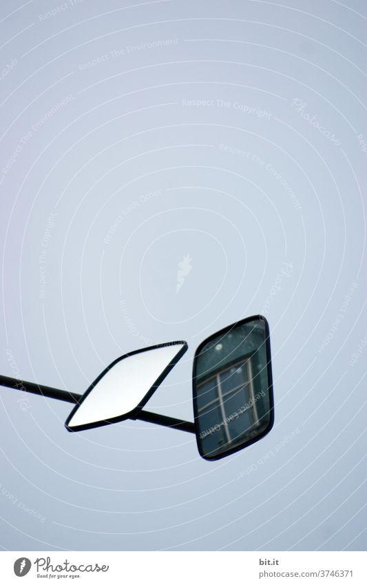 Ich hab dich im Auge. Spiegel Spiegelbild Spiegelung spiegeln Überwachung Überwachungsstaat überwachen Fenster Fensterblick Stalking Stalker stalken beobachten