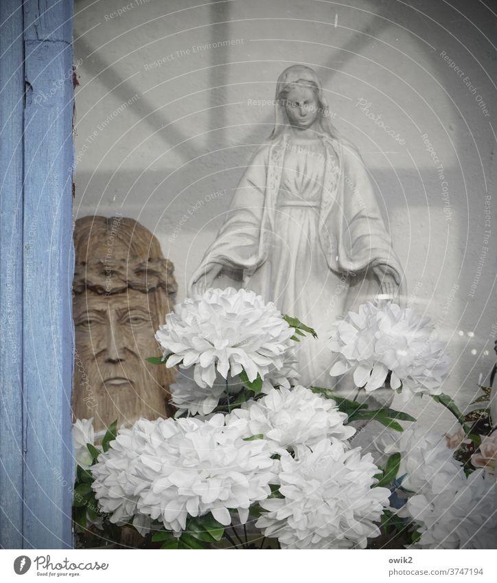 Gratia Plena Kapelle Polen Osteuropa Glas Stein Religion & Glaube Katholizismus Gebet Gebetsstätte innehalten Farbfoto Außenaufnahme Detailaufnahme Maria