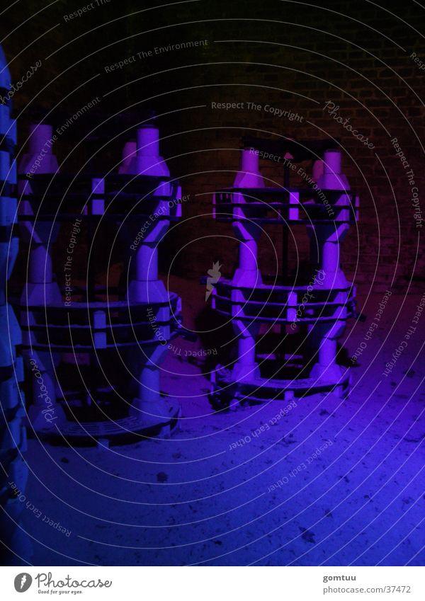 Industrie-Kultur | Wissenschaftspark Gelsenkirchen Maschine Nacht Licht Elektrisches Gerät Technik & Technologie Industriefotografie blau