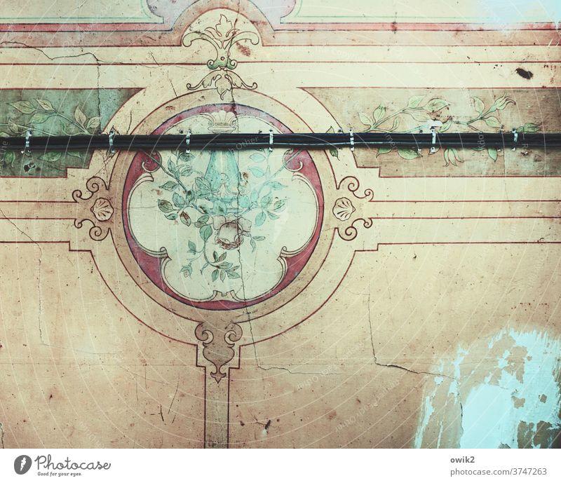 Rigoros Verzierung Dekoration & Verzierung dekorativ alt historisch ausgebleicht retro Zwanziger Jahre Blümchentapete Blumenmuster Malerei Kunst Kitsch Design