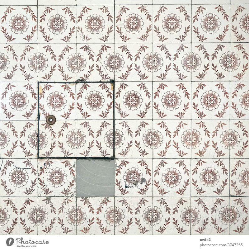 Klappe zu Fliesen u. Kacheln Wand Muster Strukturen & Formen Farbfoto alt historisch Nostalgie Kreativität komplex retro Zwanziger Jahre Vergangenheit Ornament