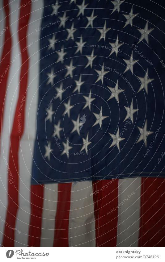 Flagge der Vereinigten Staaten von Amerika national Fahne USA fahne Sterne streifen Freiheit blau Symbole & Metaphern Patriotismus patriotisch Farbfoto Nähte