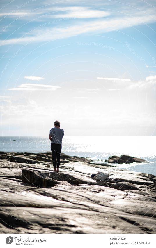 felsenküste Horizont Pietarsaari ostseeküste Ostsee Skandinavien Küste Strand Felsenküste Kiefer weite Meer Finnland Österbotten
