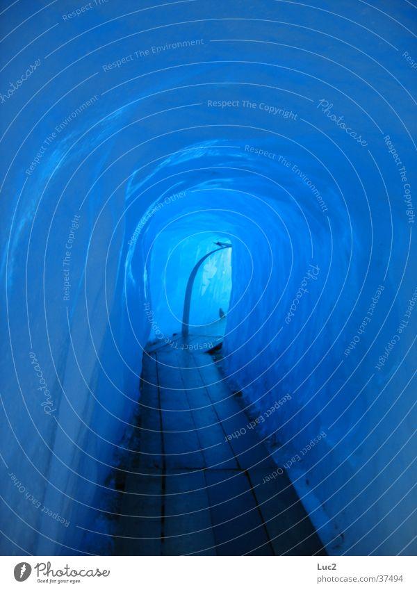 Gletscher blau kalt Eis Tunnel Gletscher