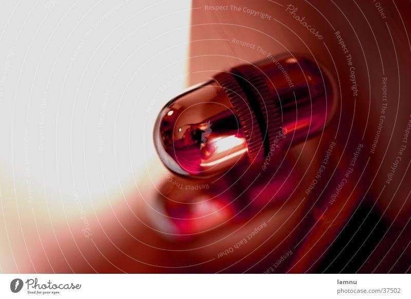 Der Lichtknopf Reflexion & Spiegelung Makroaufnahme rot Dinge rund Oval obskur