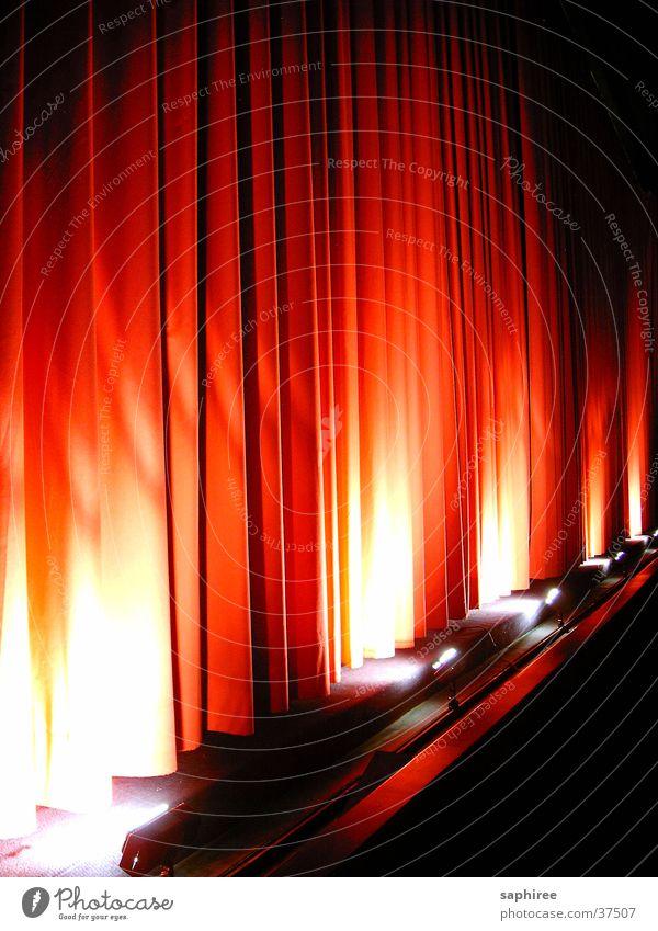 Wenn der Vorhang fällt dunkel Filmindustrie Freizeit & Hobby Stoff Theater Kino Vorhang