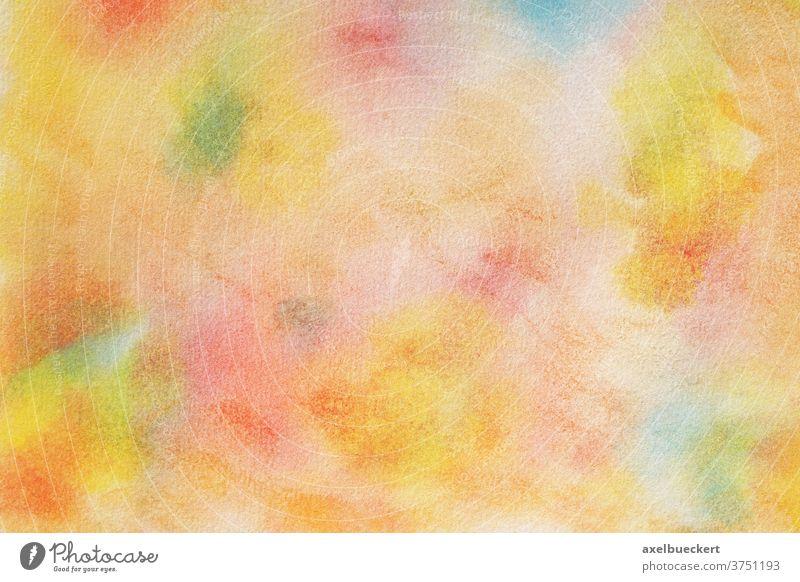 handgemalter bunter Aquarell Hintergrund mit Papiertextur Wasserfarbe abstrakt farbenfroh mehrfarbig Textur handbemalt Kunst Farbe Design Muster künstlerisch