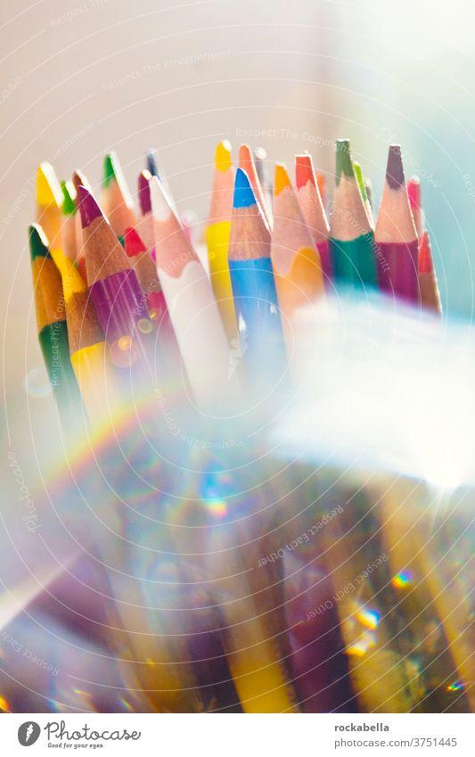 Bunte Buntstifte Stifte Kreativität zeichnen Kunst Schule mehrfarbig Schreibwaren Freizeit & Hobby malen bunt Farbstift