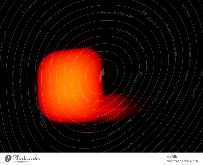 red point in the night Licht Nacht obskur Ampel Brand