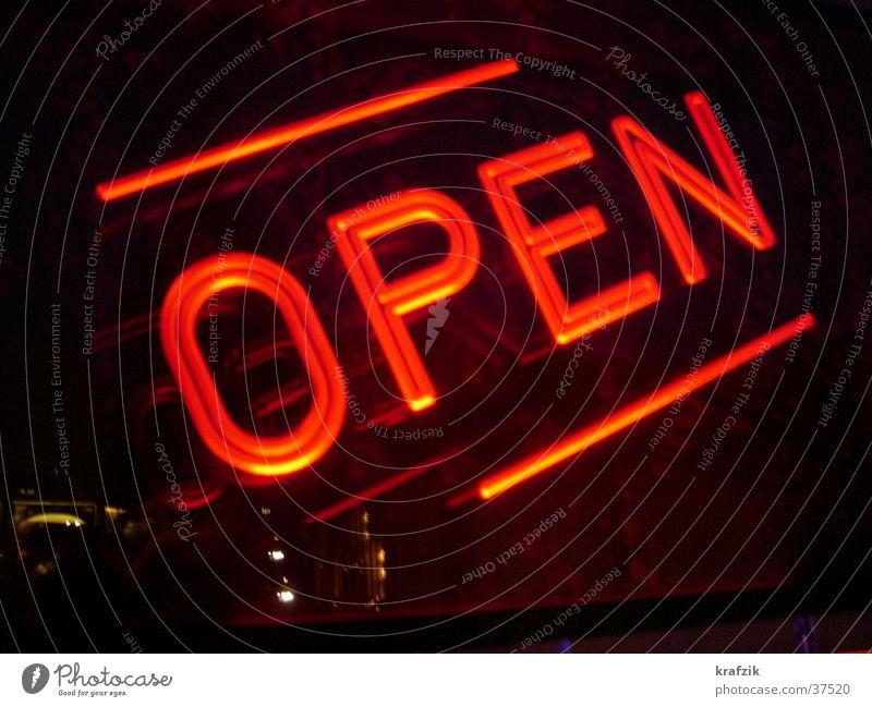 open in red Bar Licht Lampe Leuchtreklame Freizeit & Hobby offen Schilder & Markierungen