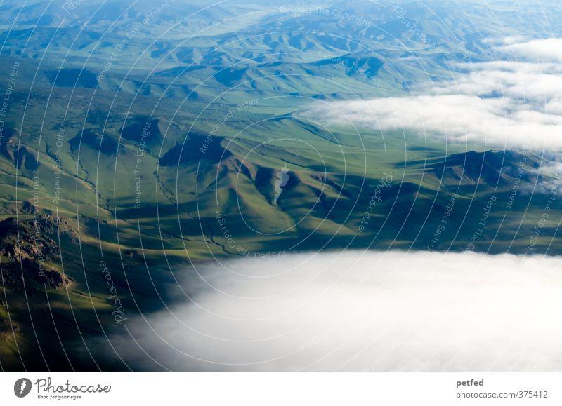 Mongolia Ferien & Urlaub & Reisen grün Landschaft Wolken Ferne Berge u. Gebirge groß Unendlichkeit Hügel Asien Mongolei