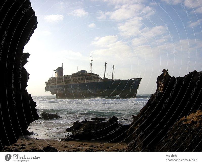 american star Wasserfahrzeug Fuerteventura American Star Meer Strand obskur