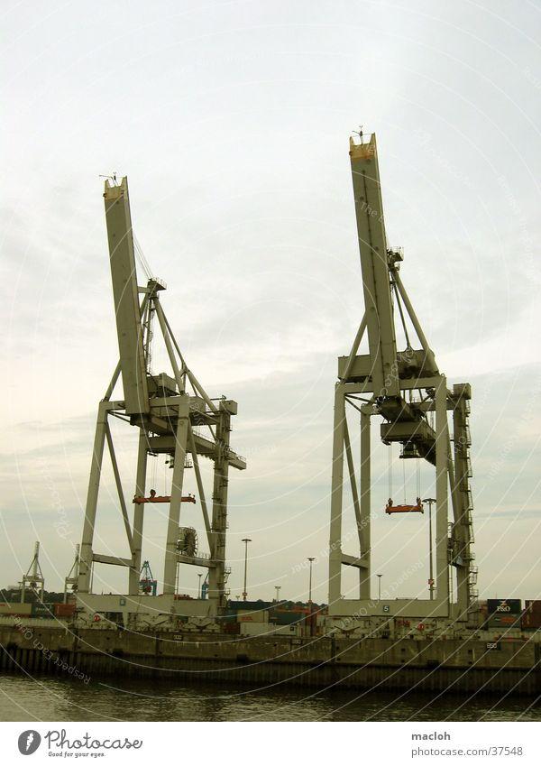 elefanten Kran Elefant Zwilling Güterverkehr & Logistik Industrie Hafen Container Hamburg