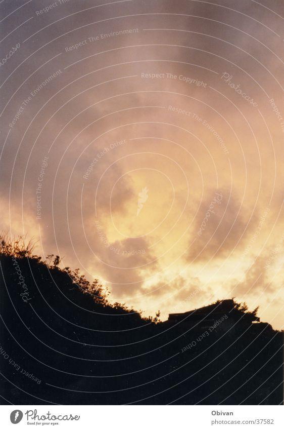 Dänemark1 Wolken Gegenlicht Himmel Abenddämmerung Stranddüne