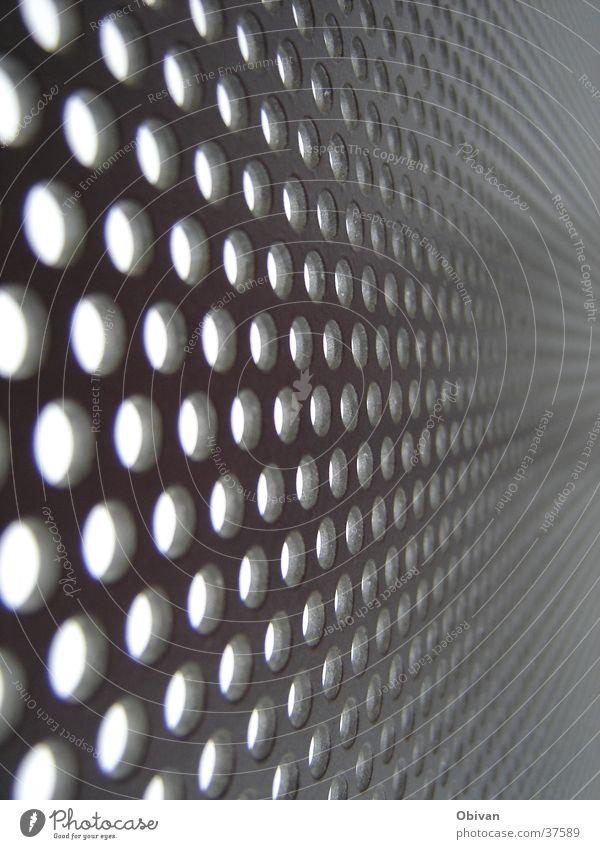 Löcher bis in die Unendlichkeit Linie Kreis Punkt obskur Zaun Loch Verlauf