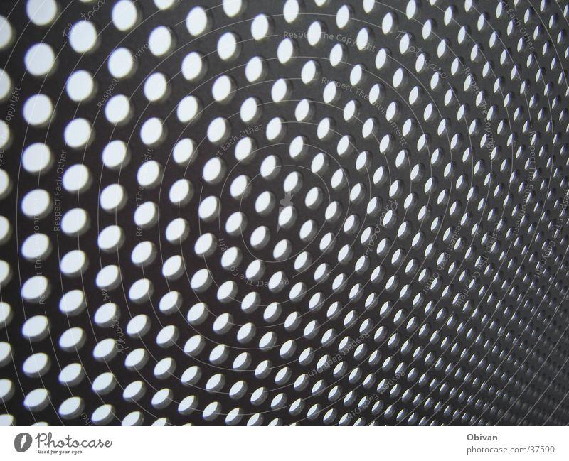 Loch an Loch und hält doch Zaun Verlauf Strukturen & Formen obskur Schatten Punkt Kreis Linie Undendlichkeit Tiefenunschärfe