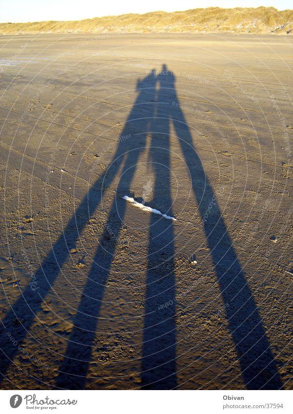 Außerirdische Strand Licht langer Schatten Sonne Pfeil Sonnenuntergang
