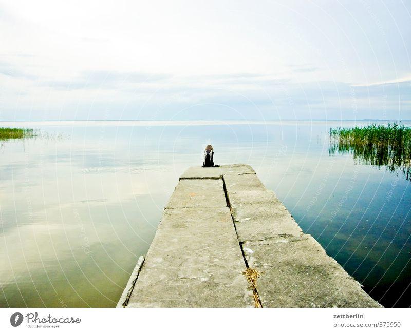 Stettiner Haff harmonisch Wohlgefühl Zufriedenheit Erholung Freizeit & Hobby Ferien & Urlaub & Reisen Ausflug Strand feminin Frau Erwachsene Umwelt Natur