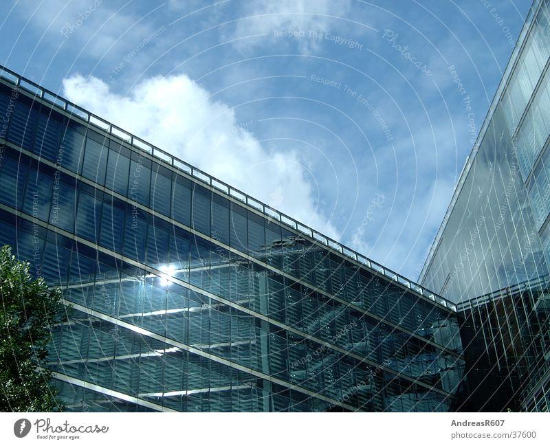 Glasfassade Sonycenter Sony Center Berlin Haus Reflexion & Spiegelung Potsdamer Platz Architektur Himmel