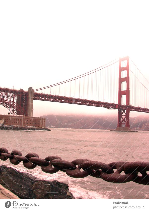 San Fransisco Regen Kette San Francisco Nordamerika Golden Gate Bridge