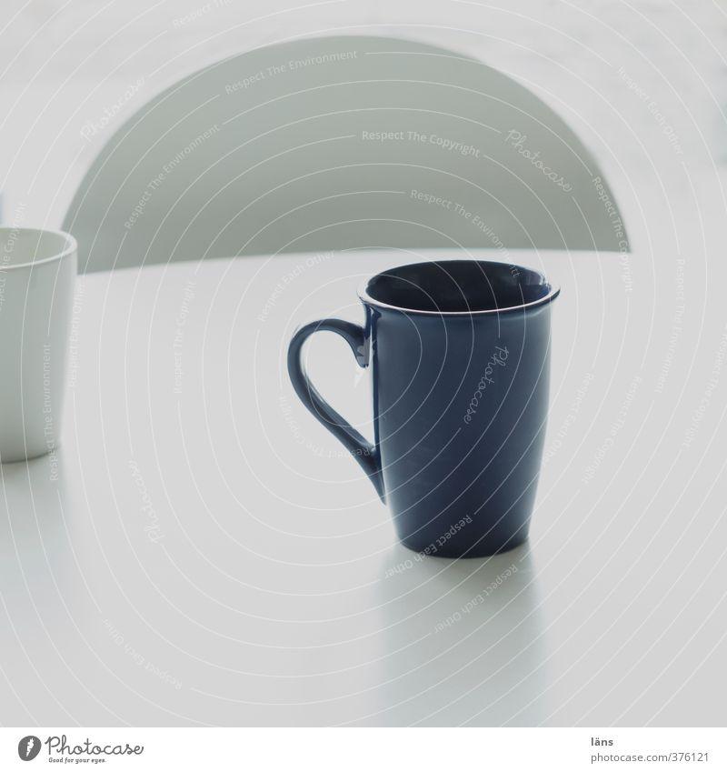 Rømø | Guten morgen Getränk Kaffee Ferien & Urlaub & Reisen Tourismus Häusliches Leben Stuhl Raum blau weiß Dienstleistungsgewerbe Becher Gastronomie