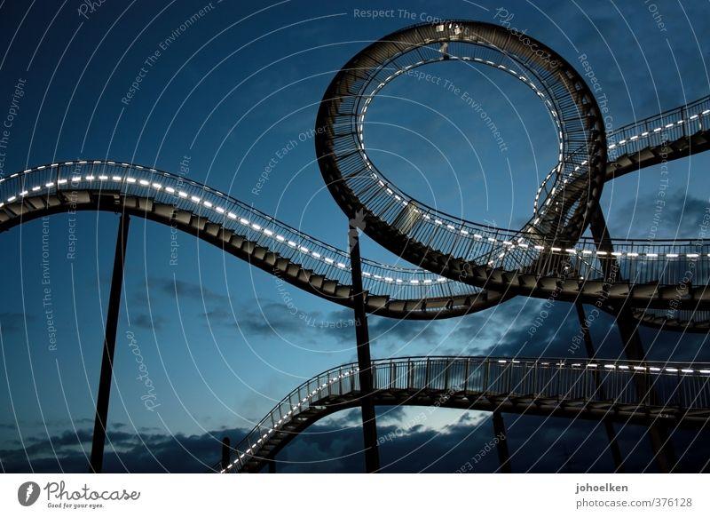 Gefühlswelten IV Ausflug Abenteuer Vergnügungspark Jahrmarkt Duisburg Ruhrgebiet Bauwerk Achterbahn Sehenswürdigkeit Bewegung Erholung hängen schreien