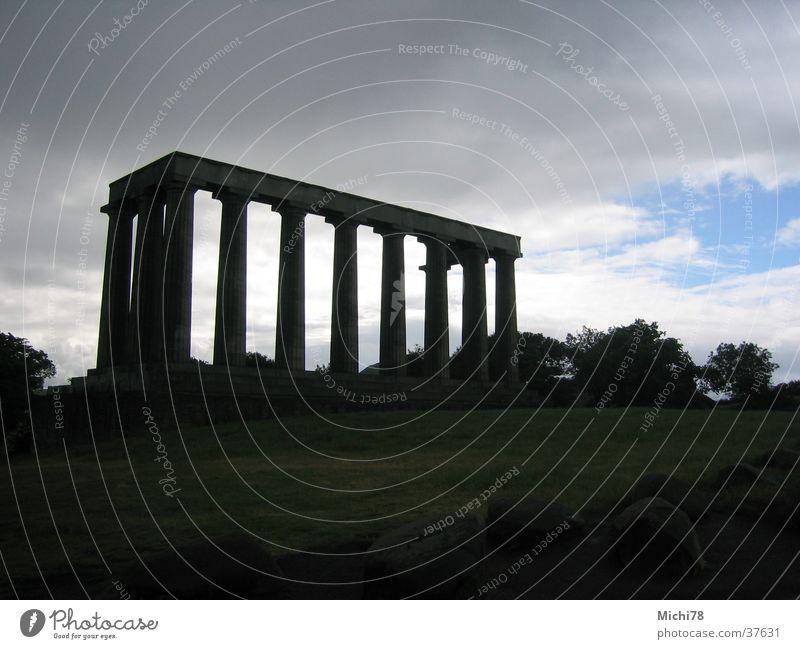 Tempel in Edinburgh Freizeit & Hobby Ruine Säule Griechenland antik Schottland