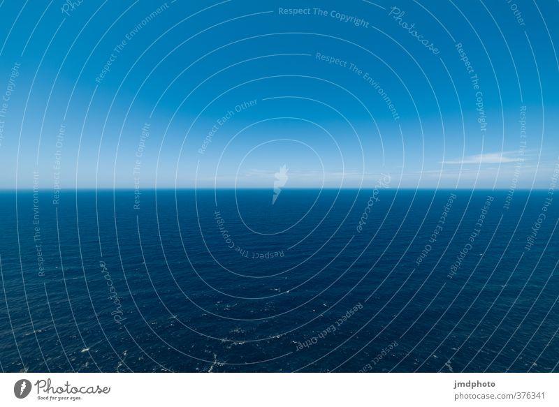 Unendliche Weiten Himmel Natur Ferien & Urlaub & Reisen Wasser Sommer Meer Ferne Freiheit Schwimmen & Baden Horizont Erde Luft Wellen Klima Tourismus Insel
