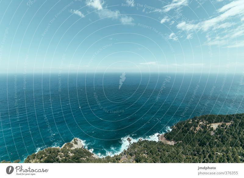 Ohne Ende Himmel Natur Ferien & Urlaub & Reisen Wasser Sommer Meer Landschaft Wolken Wald Umwelt Küste Horizont Luft Wellen Klima Tourismus