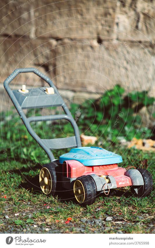 Kinderrasenmäher Spielzeug Kindheit Spielgerät Miniatur Rasenmäher Kindergarten Spielplatz