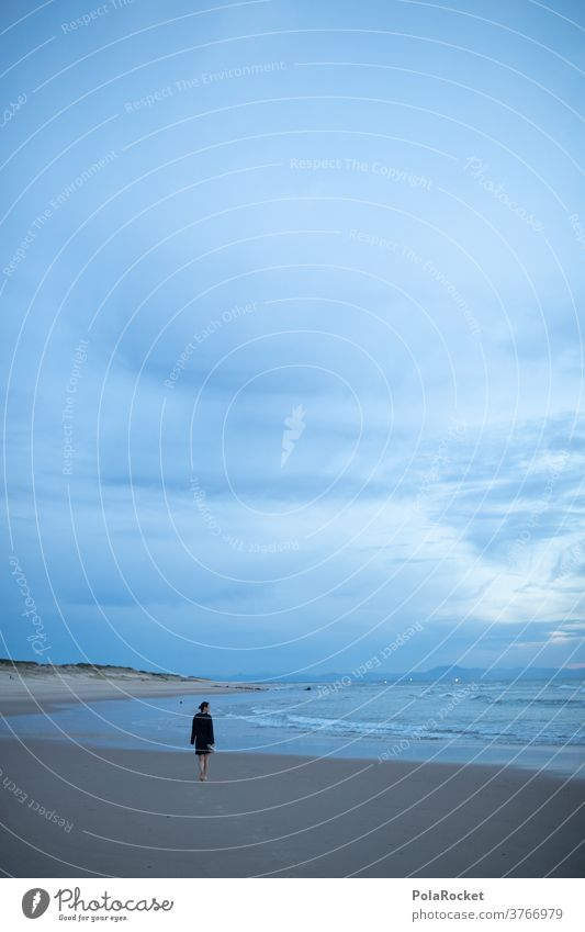#A2# Wellen am Abend Meer Küste ufer Spaziergang spazieren laufen Strand Sand Barfuß genießen entspannend erholen Erholung Frau Wasser Sommer