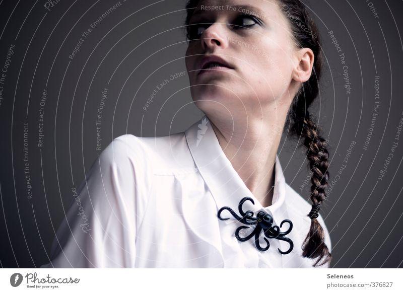 Kraken am Haken Mensch feminin Frau Erwachsene Kopf Haare & Frisuren Gesicht Auge Ohr Nase Mund Lippen 1 18-30 Jahre Jugendliche Mode Bekleidung Stoff