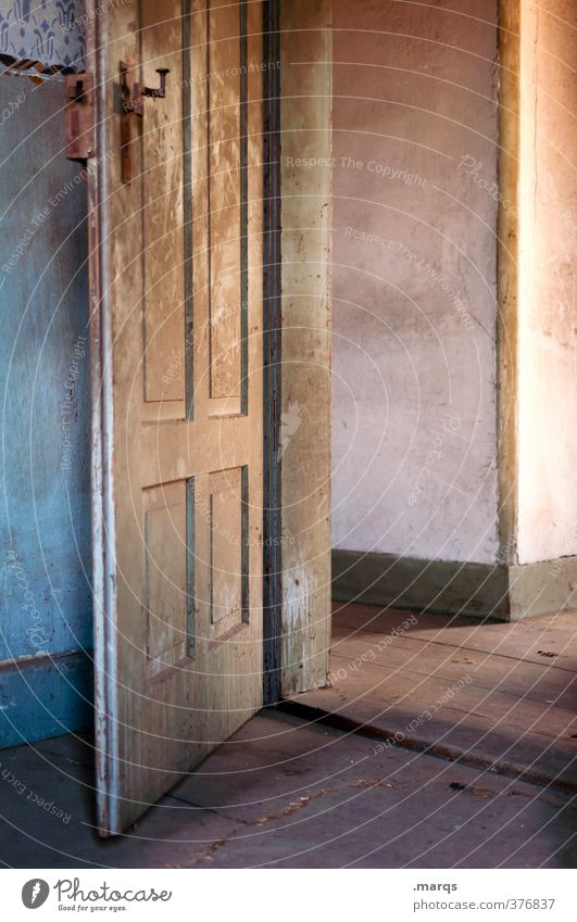Tag der offenen Tür Lifestyle Stil Häusliches Leben Wohnung Renovieren Umzug (Wohnungswechsel) Innenarchitektur Raum alt schön Stimmung Farbe Nostalgie
