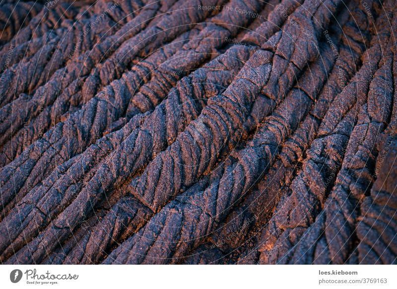 Lavastrangformation rot und blau in Nahaufnahme, El Hierro, Kanarische Inseln, Spanien abstrakt Hintergrund braun kanarische inseln Land Ausflugsziel elhierro