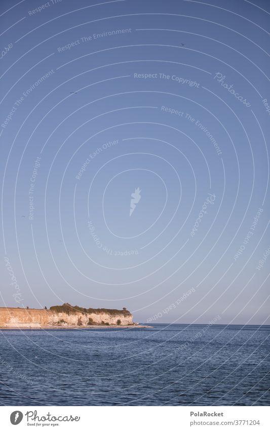 #A# Stevns Klint, Dänemark Landschaft Kreidefelsen Meer Küste Natur Himmel Farbfoto Außenaufnahme Tourismus Ferien & Urlaub & Reisen Europa