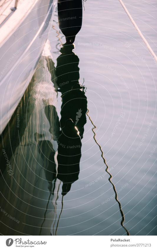 #A# Im Hafen Sind Die Wellen Am Kleinsten Wasser Wasseroberfläche Bootsfahrt bootfahren bootstour Reflexion & Spiegelung Farbfoto Außenaufnahme Wasserfahrzeug