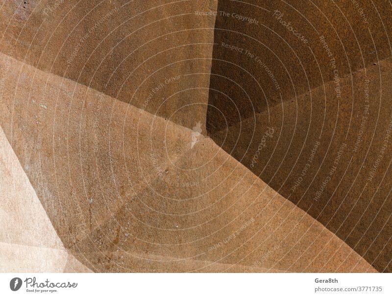 altes raues Metall abstrakte Oberfläche Nahaufnahme abstrakter Hintergrund Abstraktion Architektur beige blanko braun Farbe dunkel Dekor Dekoration & Verzierung