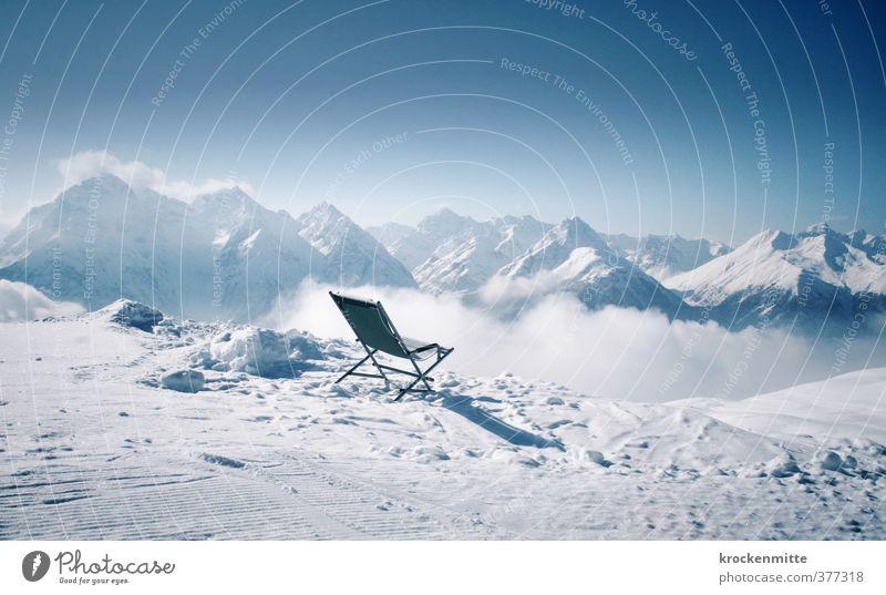 Freie Sicht auf die Alpen Umwelt Landschaft Himmel Horizont Winter Klima Wetter Nebel Eis Frost Schnee Felsen Berge u. Gebirge Gipfel Schneebedeckte Gipfel