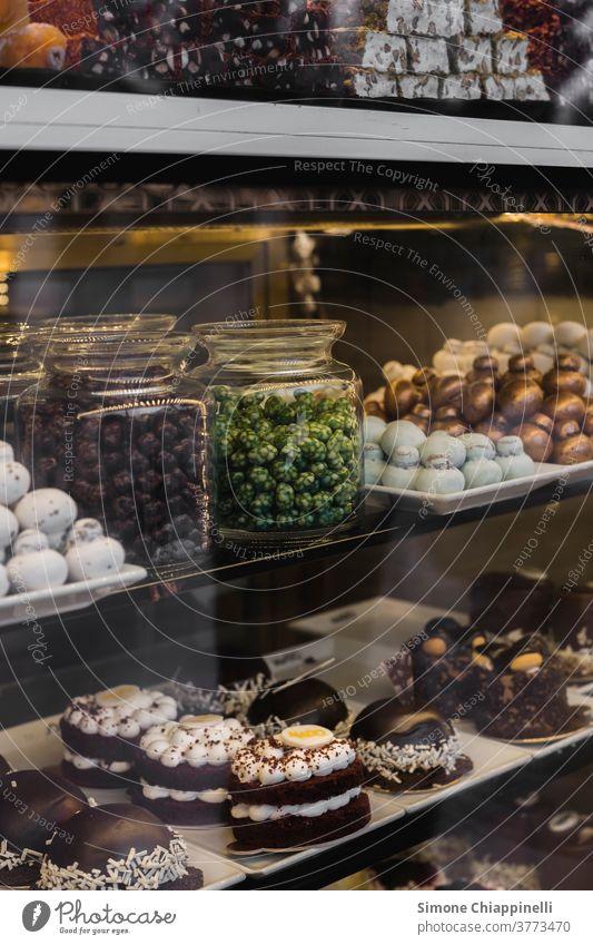 Schaufenster einer türkischen Konditorei voller Süßigkeiten Gebäck süß Truthahn Türkisches Gericht türkisch süß Lebensmittel Dessert geschmackvoll Kuchen