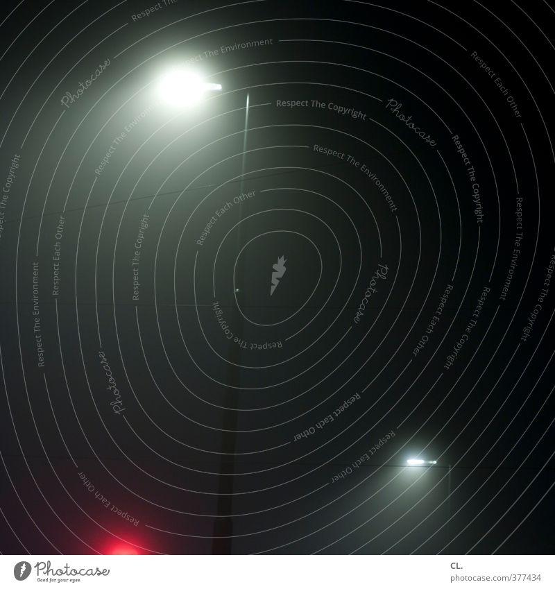 durch die nacht Nebel Stadt Verkehr Straße dunkel gruselig kalt Langeweile Traurigkeit Sehnsucht Einsamkeit bedrohlich planlos orientierungslos Orientierung