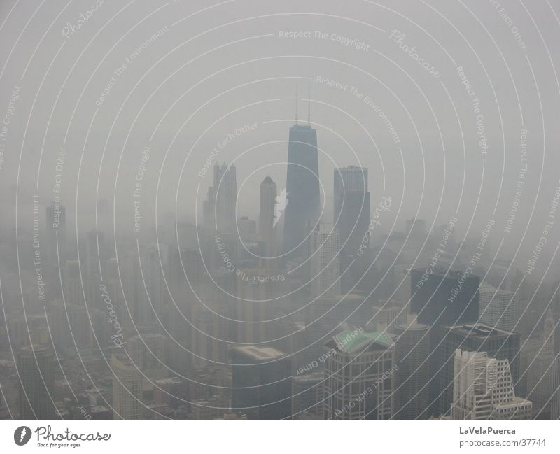 Chicago Nebel Hochhaus Illinois Sears Tower