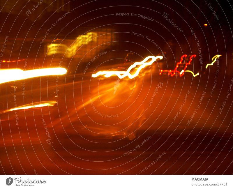 traffic_1 rot gelb Bewegung PKW Beleuchtung Verkehr Streifen Scheinwerfer Fototechnik Rücklicht