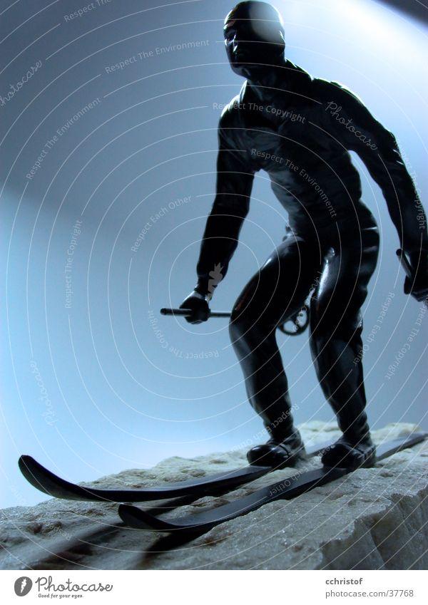 So sehen Sieger aus Schnee Skifahren Skier Held Eisen Marmor Fünfziger Jahre Pionier