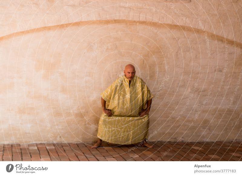 der Moment vor der Erleuchtung Mönch Samurai Asien Kampfsport Meditation Religion & Glaube Buddha Buddhismus Kunst Figur Zen Frieden Yoga ruhig Kraft Erkenntnis